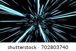 abstract hyper jump in space 3d ... | Shutterstock . vector #702803740