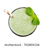 fresh avocado smoothie with... | Shutterstock . vector #702804136