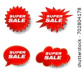 red price sale tags stickers... | Shutterstock .eps vector #702804178