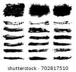 set of grunge brush strokes...   Shutterstock .eps vector #702817510