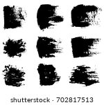 set of grunge brush strokes... | Shutterstock .eps vector #702817513