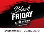 black friday sale banner | Shutterstock .eps vector #702822070