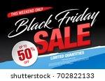 black friday sale banner | Shutterstock .eps vector #702822133