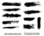 hand painted brush strokes... | Shutterstock .eps vector #702824350