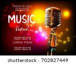 vector poster for music...   Shutterstock .eps vector #702827449