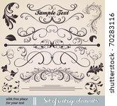 vector set  calligraphic design ... | Shutterstock .eps vector #70283116