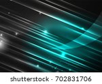 glowing futuristic lines in the ... | Shutterstock .eps vector #702831706