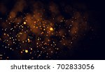 gold abstract bokeh background. ... | Shutterstock . vector #702833056
