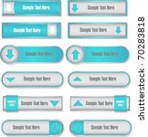 web buttons collection | Shutterstock .eps vector #70283818