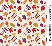 autumn  thanksgiving  fall... | Shutterstock .eps vector #702845548