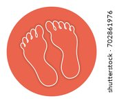 foot plants isolated icon | Shutterstock .eps vector #702861976
