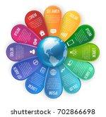 flower style infographic 12... | Shutterstock .eps vector #702866698