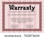 red warranty. complex... | Shutterstock .eps vector #702873634