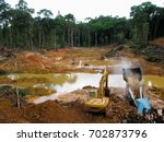Rainforest Destruction. Gold...