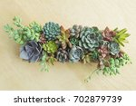 Top View Of Wooden Box Of...