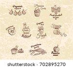 set of different monochrome... | Shutterstock .eps vector #702895270