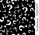 question mark seamless pattern .... | Shutterstock .eps vector #702897079