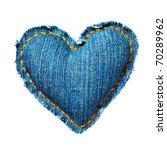 Valentine Jeans Heart. Isolated ...