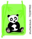 little panda sitting in bamboo... | Shutterstock .eps vector #70289983