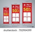 roll up big sale banner... | Shutterstock .eps vector #702904399
