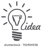 idea to eat | Shutterstock .eps vector #702904558