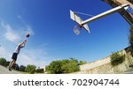 Player Shooting In A Basketbal...