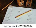 worksheet for 1st grade math... | Shutterstock . vector #702906034