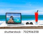 search hotels website on... | Shutterstock . vector #702906358