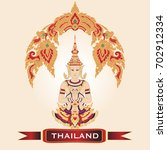 welcome to thailand.... | Shutterstock .eps vector #702912334