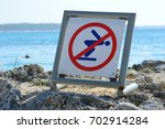 banned swimming | Shutterstock . vector #702914284