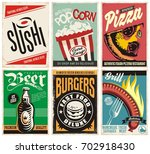 food and drink posters... | Shutterstock .eps vector #702918430