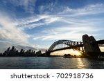 sunset at sydney harbour | Shutterstock . vector #702918736
