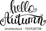 brush lettering  hand written... | Shutterstock .eps vector #702928738
