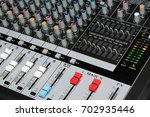 sound mixer control panel. | Shutterstock . vector #702935446