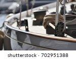 Small photo of wood sailing boat