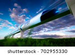 concept of high speed traveling ... | Shutterstock . vector #702955330