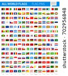 flag pins   all world vector... | Shutterstock .eps vector #702956848