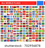 flat flag icons   all world... | Shutterstock .eps vector #702956878