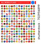round flat flag icons on black... | Shutterstock .eps vector #702956899
