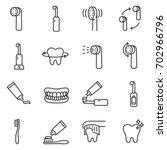 toothbrush icon set. teeth... | Shutterstock .eps vector #702966796