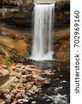 minnehaha falls is a popular... | Shutterstock . vector #702969160