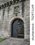 entrance to craigmillar... | Shutterstock . vector #702971149