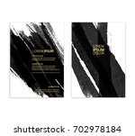 black abstract design. ink... | Shutterstock .eps vector #702978184