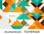 triangle pattern design... | Shutterstock . vector #702989668