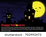 halloween background. eps10... | Shutterstock .eps vector #702992473