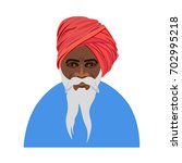 Indian Old Man In Traditional...
