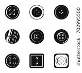 fashion clothes button icon set.... | Shutterstock .eps vector #702995500