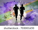 marathon runner   Shutterstock .eps vector #703001650