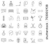 sport life icons set. outline...   Shutterstock .eps vector #703001938