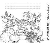 autumn vector coloring page for ... | Shutterstock .eps vector #703002130